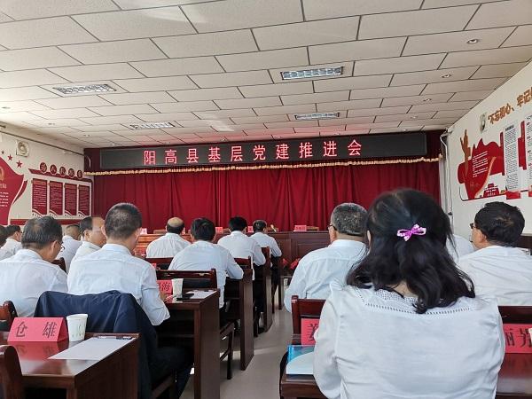 阳高县基层党建推进会上山西好医生党建工作受表扬
