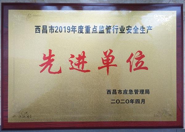 """好医生攀西药业被评为西昌市2019年度重点监管行业""""安全生产先进单位"""""""