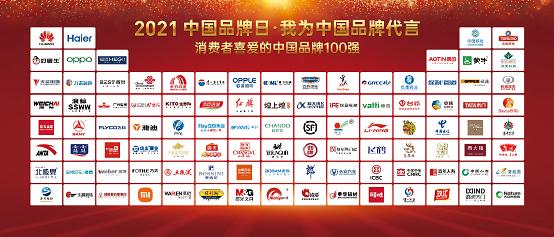 """为中国品牌代言!好雷竞技官方网站荣膺""""消费者喜爱的中国品牌100强"""""""
